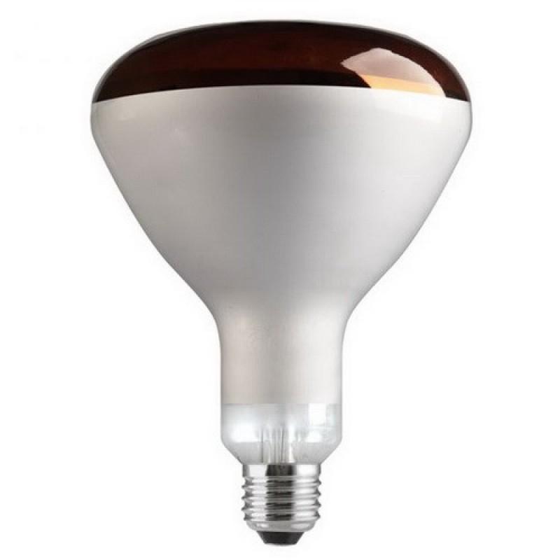 Лампа инфракрасная FL-IR R125 250W RED E27 230V красное стекло