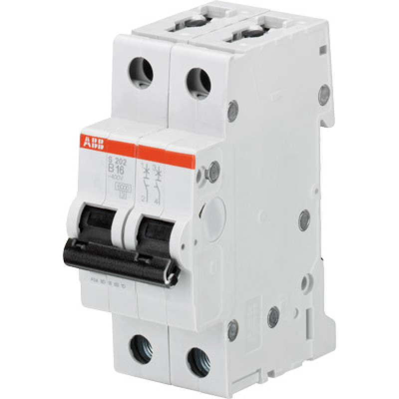 Автоматический выключатель 2-полюсный ABB S202 B63 2CDS252001R0635