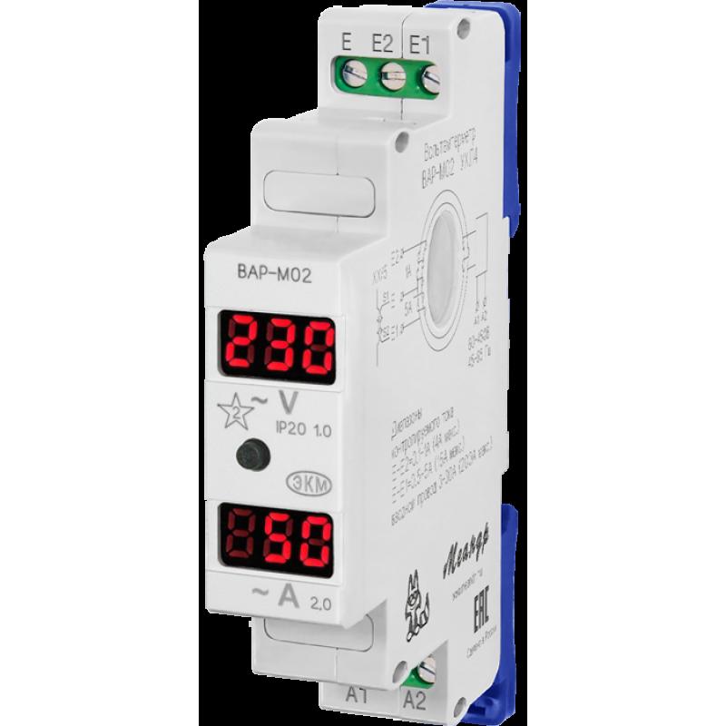 Вольтамперметр ВАР-М02 АС20-450В измерение и индикация сетевого напряжения и тока УХЛ4