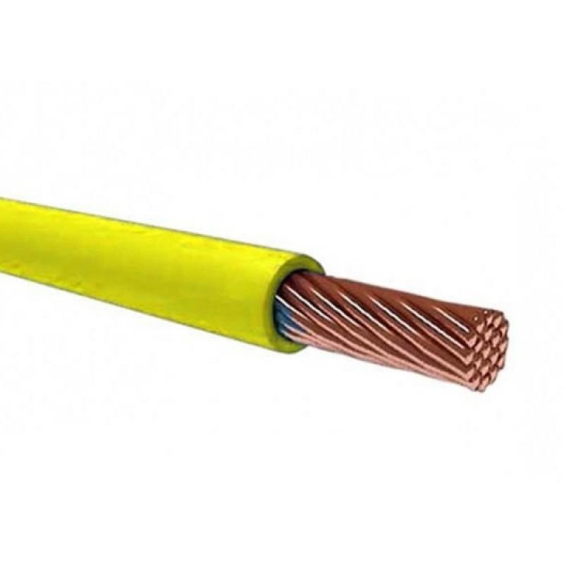 Провод установочный ПВ-3 (ПуГВ) 6,0 желто зеленый ГОСТ 31947