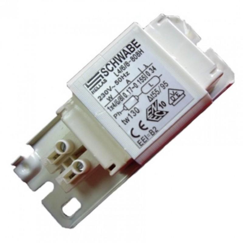 Дроссель Schwabe Hellas 4/6/8W 0.17A для люминесцентных ламп