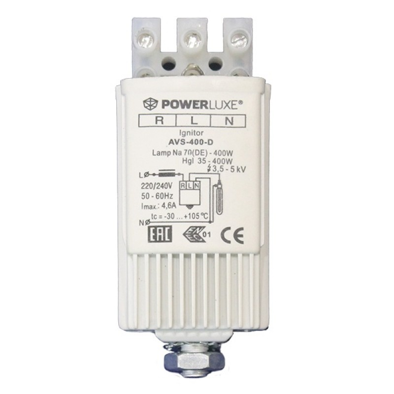 ИЗУ POWERLUXE 70-400W 220-240V 3,5-5,0kV 4,6A для металлогалогенных и натриевых ламп