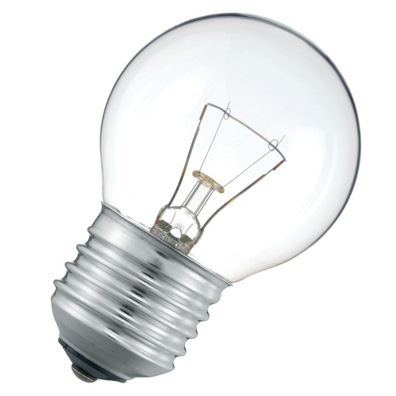 Лампа накаливания шарик 25W E27 прозрачная