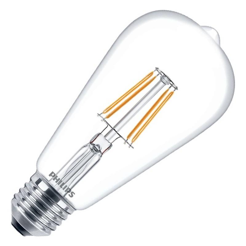 Лампа филаментная светодиодная Philips LED Filament ST64 4,3W (50W) 2700K 470lm E27 230V теплый свет