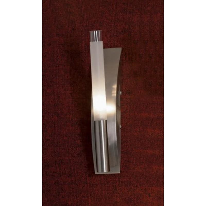 Светильник Lussole Marcon матовый никель/белое стекло 1x40W G9