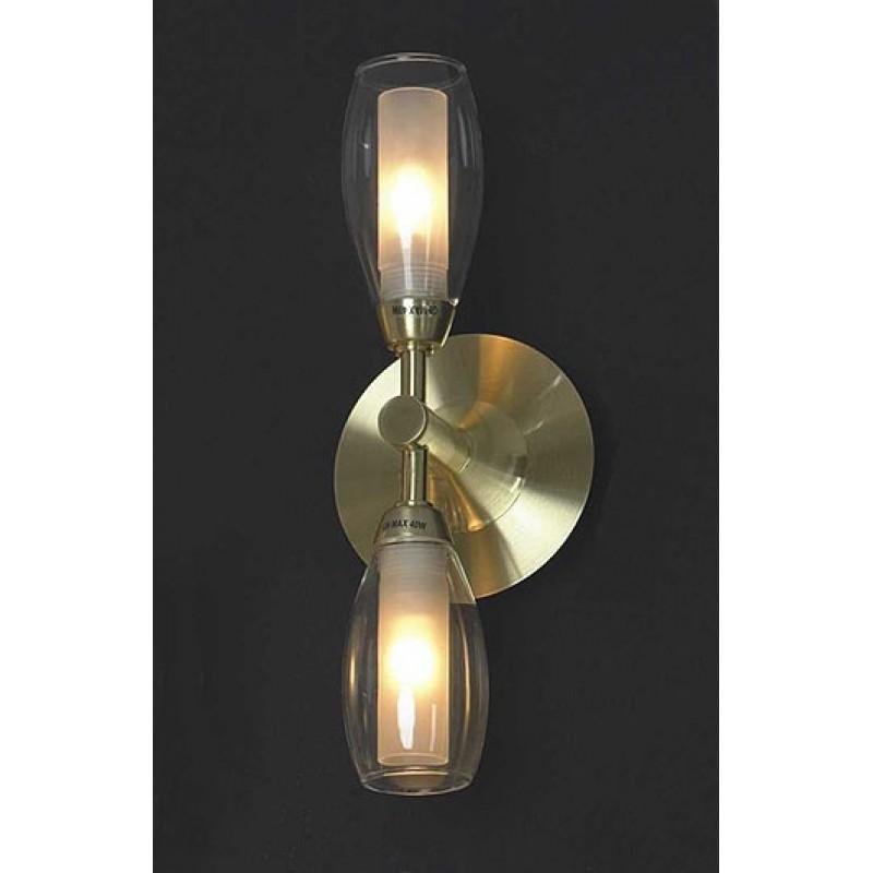 Светильник Lussole Corvara матовое золото/белое стекло 2x40W G9