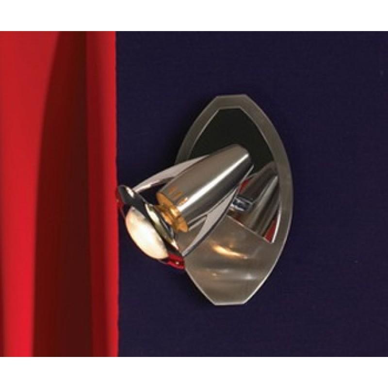 Бра Lussole Forenza матовый никель/хром 1x40W E14