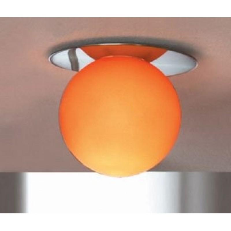 Галогенный встраиваемый светильник Lussole Arancia матовый никель/оранжевый 1x40W G9