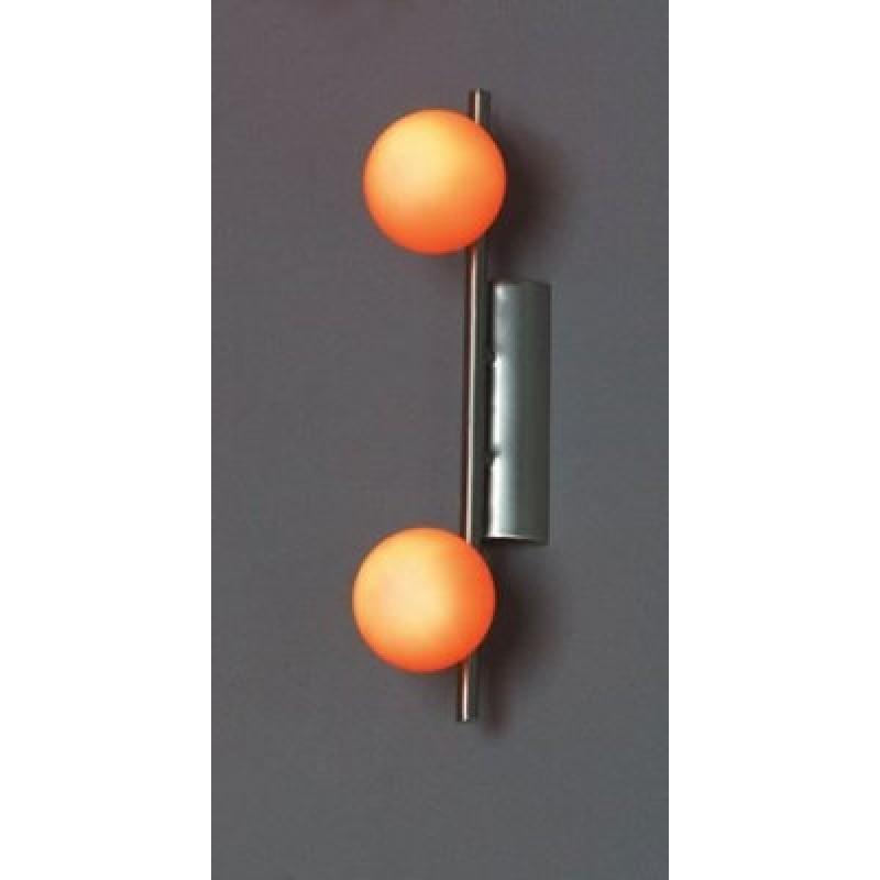 Бра Lussole Arancia матовый никель/оранжевый 2x40W G9