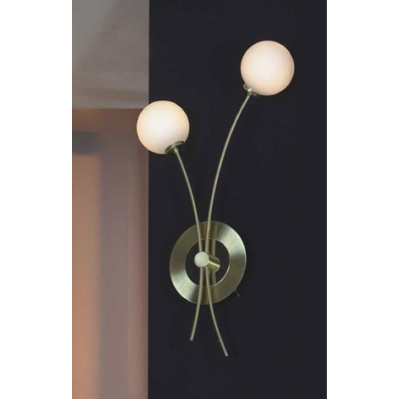 Светильник Lussole Viterbo матовое золото/белое стекло 2x40W G9