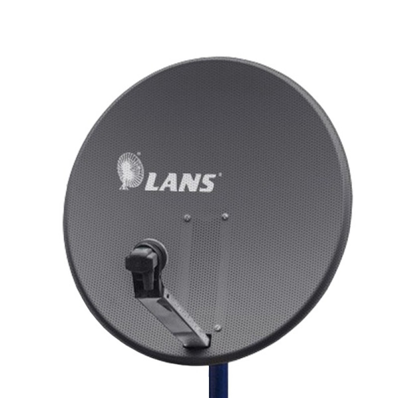 Антенна перфорированная офсетная LANS-80 с азимутальной фиксиpованной подвеской темная
